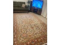 2m by 3m handmade T abriz wool and silk rug carpet