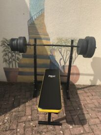 Weight bench n punch bag