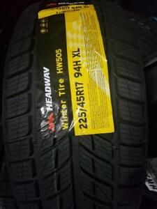 4 winter tires headway 225/45r17 New