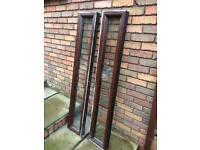 pair of Slim uPVC WINDOWS 1522mm x 262mm