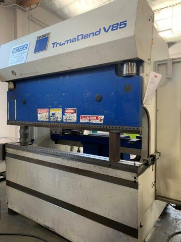 95 Ton Trumpf TrumaBend V85 CNC Press Brake (New: 1996)
