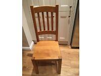 4 x Solid Pine Dining Room Chairs, in excellent condition