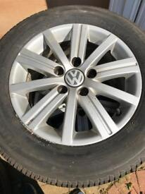 Vw 15' alloys and new tyres