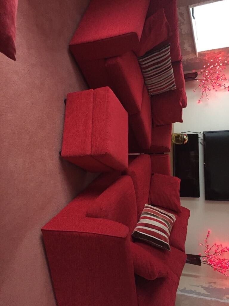 Immaculate 2 red sofas ( one is sofa bed ) first to view will buy