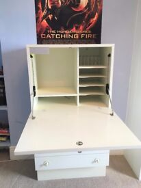 Original 1970's Chest with Secretaire (writing desk) with built-in light