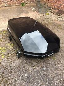 Exodus roof box with BMW Roof bars and