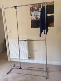 clothes rack/rail: 2 tier & adjustable