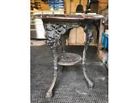 Heavy cast iron garden table