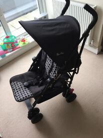 Silver Cross Pop 2 Jet Black Pushchairs Single Seat Stroller