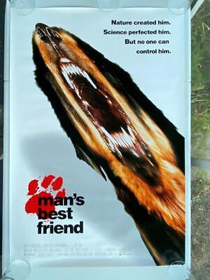 RARE VINTAGE 1993 MANS BEST FRIEND 40X27 MOVIE POSTER 1 SHEET