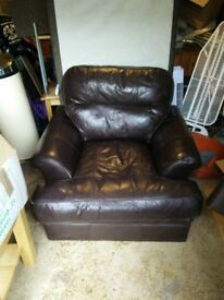 Two Faux Leather Arm Chairs £15 each