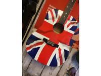 Union Jack Acoustic Guitar Dreadnought