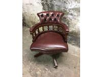 Vintage Chesterfield Office Swivel Chair