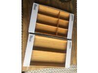 IKEA Variera Cutlery Tray x 2
