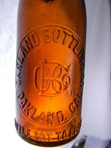 Blob Top OAKLAND BOTTLING COMPANY, CAL CA <Pint W/ Ceramic Stopper