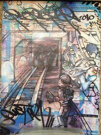 "2010 Graffiti Map Art Prints (X3) ""Duster UA"" from New York"