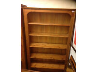 antique retro book shelve Ducal victoria in real solid pine wood shelf cabinet