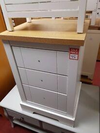 large 2tone 3 drawer bedside