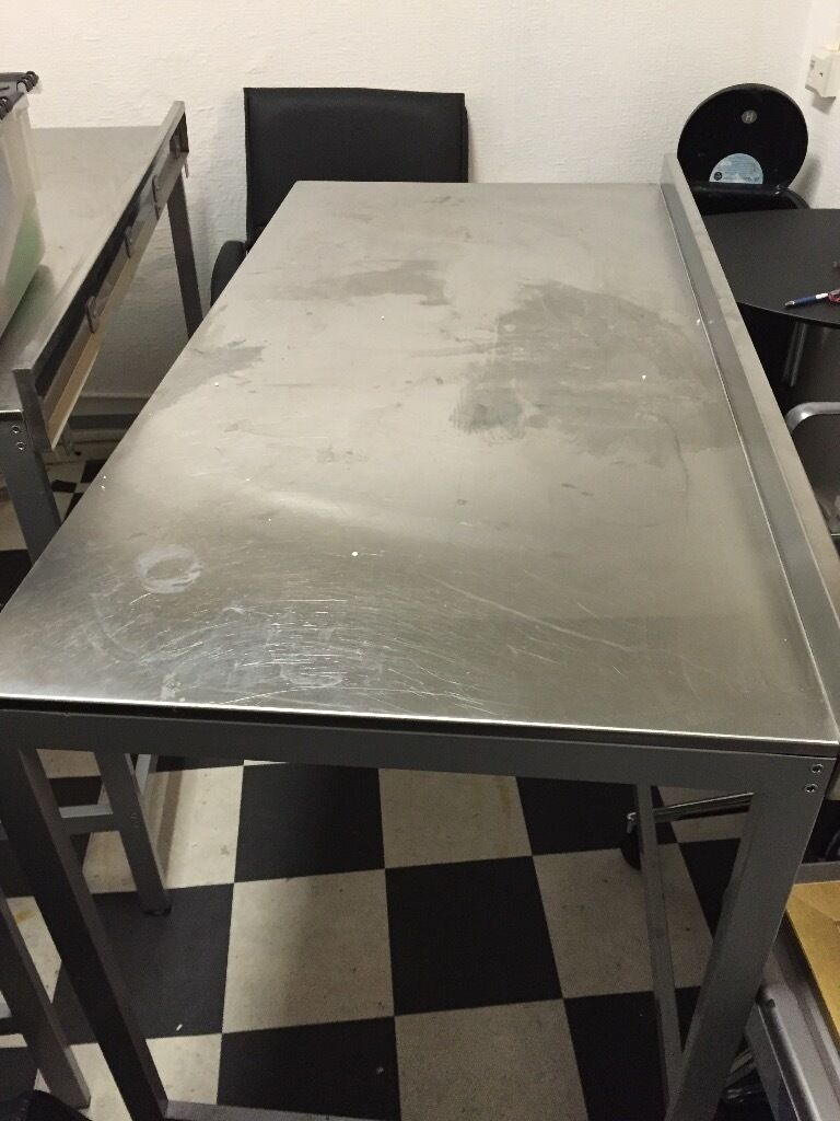 Ikea Galant White Glass Desk ~ ikea udden stainless steel tables x udden stainless steel prep
