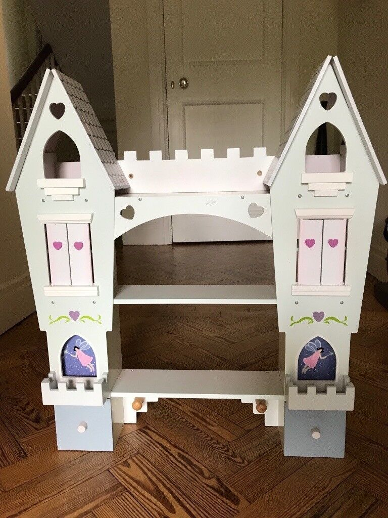 Wooden Wall Mounted Lilac Princess Fairy Castle Shelves