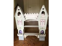 WOODEN WALL MOUNTED LILAC PRINCESS FAIRY CASTLE SHELVES BOOKCASE
