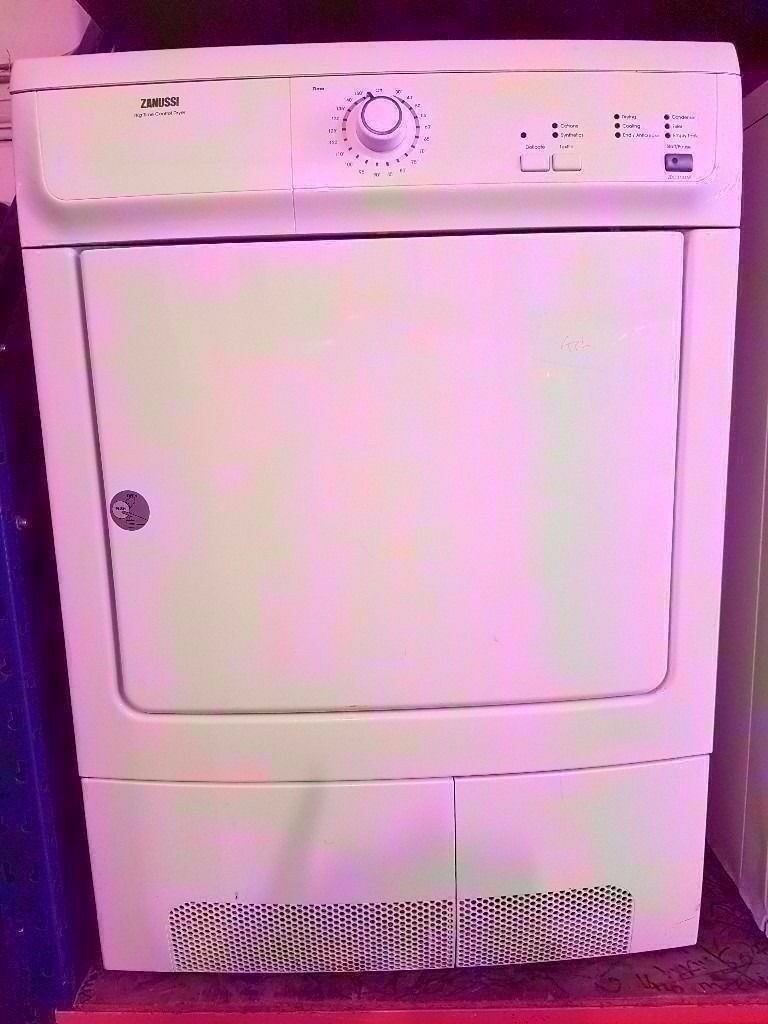 ZANUSSI 7kg - Time Control Dryer, Vented, White in fully working condition