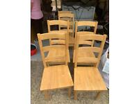Solid wood table and 6 chairs, very heavy