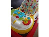 Mothercare ABC walker,few days used,excellent condition,comes with everything in box