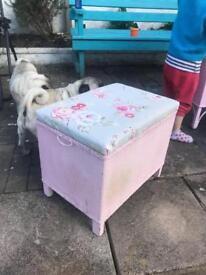 Lloyd loom toy box