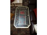 Beautiful glass coffee table for sale