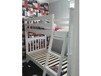 solid white bunkbeds