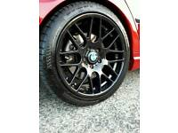 18 inch bmw CSL wheels with tyres 5 months old!
