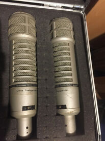 2 x Electro Voice RE20 Vintage Microphones (pair) 1960/70s - Chris Tsangarides collection