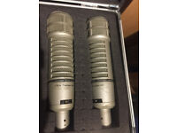 2 x Electro Voice RE20 Vintage Microphones (pair) 1960/70s - Chris Tsangarides collection