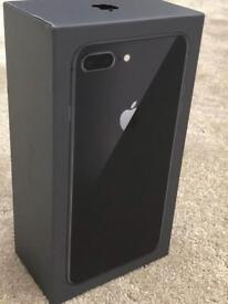 IPHONE 8 PLUS 64gb SPACE GREY, FACTORY UNLOCKED, BRAND NEW BOXED UNUSED WITH WARRANTY, rrp £799