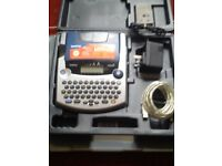 BROTHER P-TOUCH 2450 DX LABELING MACHINE WITH CARRY CASE & CHARGER