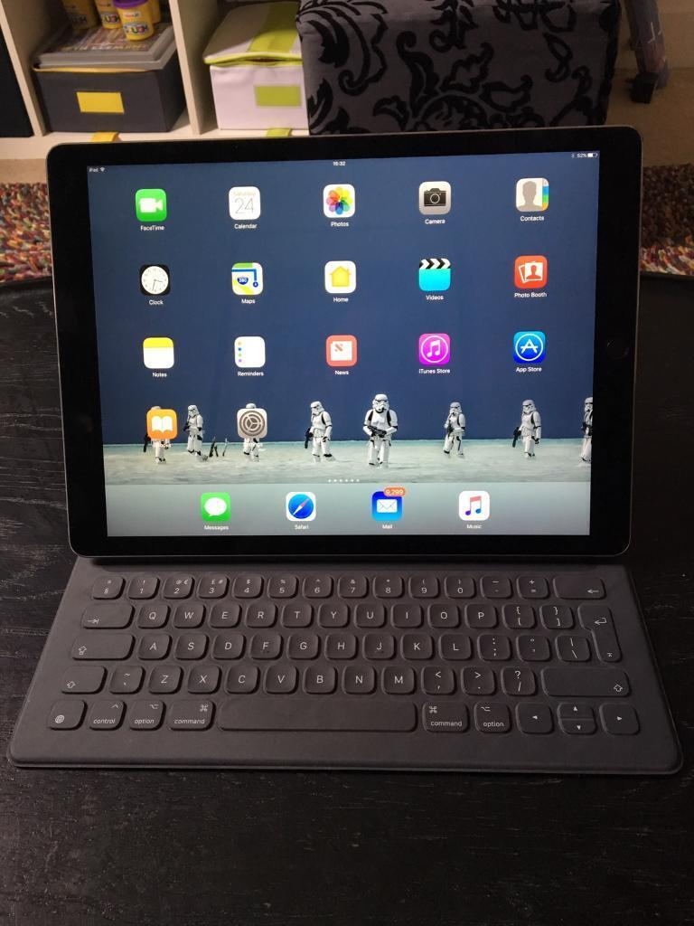 Apple iPad Pro 12.9 128GB Smart Keyboard Pencilin Crystal Palace, LondonGumtree - Apple iPad Pro 12.9 128GB Space GreyApple Smart Keyboard Apple PencilBoxedExtra Genuine Apple 29W USB Type C Power AdapterExtra case blueBought in August 2016 from AppleWarranty until August 2017Excellent condition