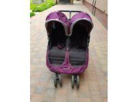 City Mini Double pram purple