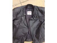 Motorbike clothing (leather jacket/trousers)