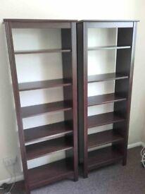 2 x Bookcase IKEA Brusali brown