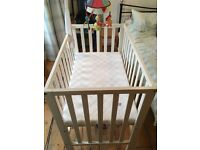 Mamas and Papas Petit Cot and mobile - Reduced