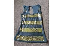 Ladies topshop sparkly vest size 8