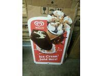 ***********BRAND NEW Walls Ice Cream Sign For Sale*****************