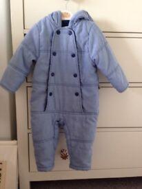 Blue baby winter suit