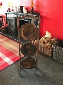 Lovely Wooden Vintage Cake Stand
