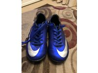 Blue CR7 astro football boots - Size 12 (junior)