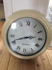 Large Next cream vintage wall clock statement