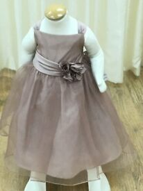 Bridesmaids/Flower Girls Dress, Rum Pink Organza Age 3
