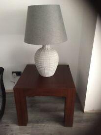 TEAK LAMP TABLE