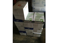 Job Lot of 10 Boxes of Paper – Each Containing 5 Reams of Paper